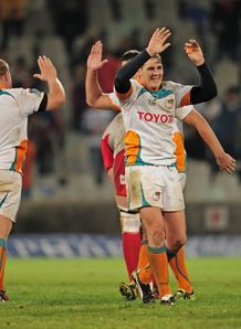 Cheetahs celebrate victory over Crusaders