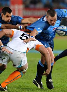 Dean Greyling running for Bulls against Cheetahs