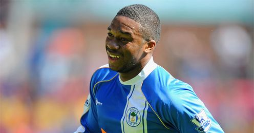 All smiles: N'Zogbia put on a cracking show to help Wigan defeat West Ham