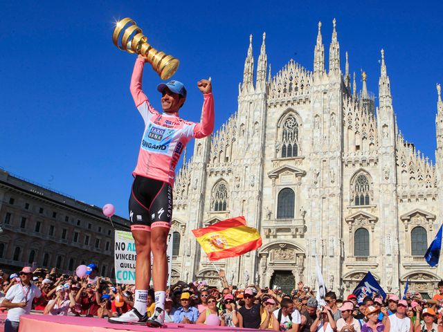 Alberto Contador was the man celebrating after the final stage of the Giro d'Italia after sealing the overall title
