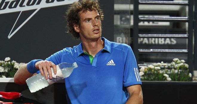 andy murray tennis serve. Andy Murray is through to the