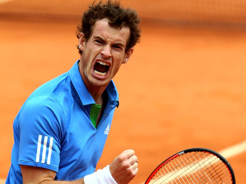 andy murray 2011 french open. British ace Andy Murray is