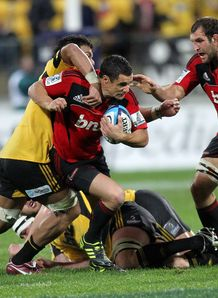 Dan Carter James Broadhurst Crusaders v Hurricanes 2011