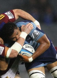 Peter Saili and Jamie Mackintosh Blues v Highlanders