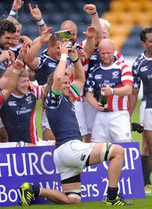USA celebrate Churchill Cup Bowl