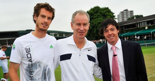 True winner: Murray and McEnroe meet golf's US Open champion McIlroy