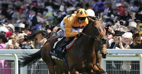 Making a move: Canford Cliffs beats Goldikova at Royal Ascot