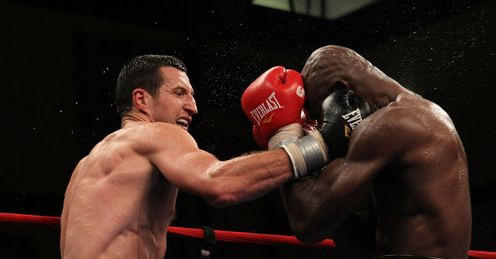 Froch gets stuck into Johnson