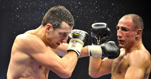 Toe-to-toe: Froch goes on the offensive against Arthur Abraham in November