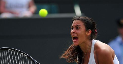 Court won: ninth seed Bartoli celebrates her hard-earned victory