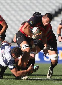 Ash Parker on a run for Canterbury