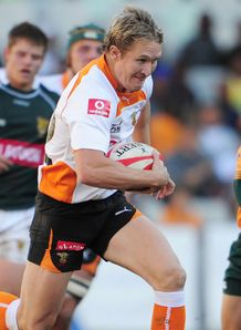 Philip Burger on a run for Cheetahs in Currie Cup