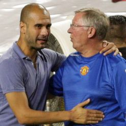 Guardiola (L): Has Ferguson baffled