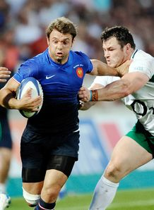French wing Vincent Clerc v Ireland 2011