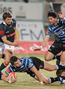 Griquas Centre Jean Stemmet during the Absa Currie Cup matc