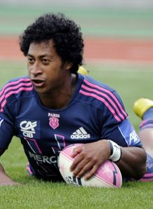 Stade Francais wing Francis Fainifo scores