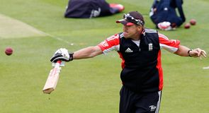 Touch of genius: Flower participates in England training ahead of the Oval Test