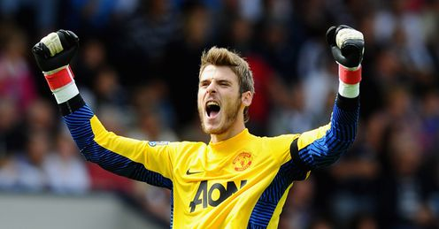 De Gea: will look to build his confidence against Spurs