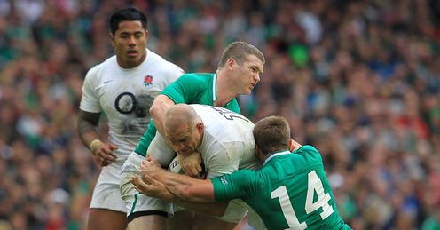 Back flow: Tindall and Tuilagi (left) look a perfect centre pairing