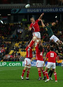 Alun Wyn Jones Johan Muller Wales South Africa