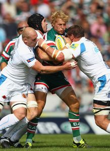 Billy Twelvetrees held for Leicester against Exeter