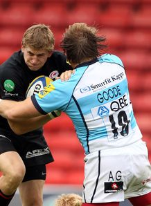 David Strettle Andy Goode saracens worcester 2011
