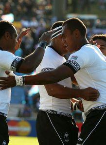 Fiji v Namibia - Fiji celebrate Leone Nakarawas try