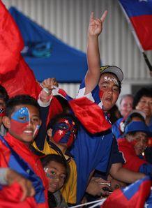 Samoa fans rwc arrival