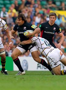 Schalk Brits in action for Saracens against Wasps