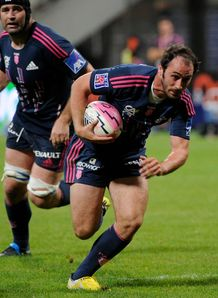 Stade francais player Julien Dupuy runs 2011