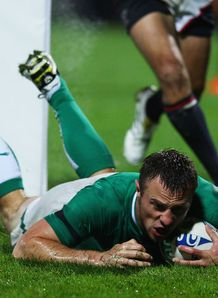 tommy bowe ireland v usa 2011