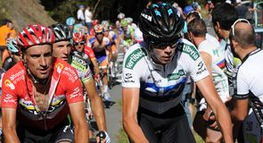 Chris Froome and Juan Jose Cobo went toe to toe on the final climb on stage 19