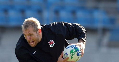 England training in Dunedin - James Haskell