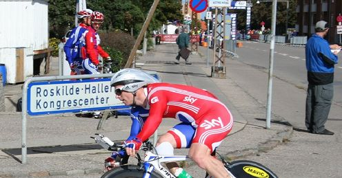 Jody in action during the Para-Cycling Worlds time trial in Denmark (Photo: British Cycling)