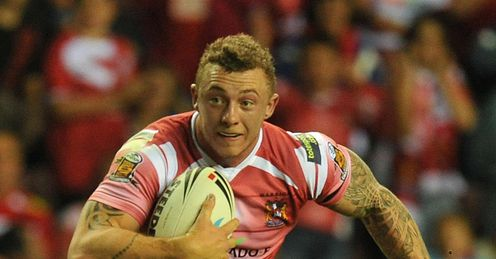 Wigan v Crusaders Josh Charnley