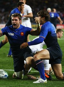 England v France - Vincent Clerc celebrates