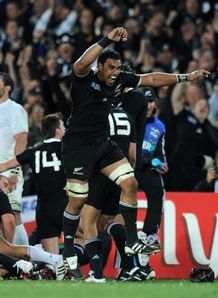 Jerome Kaino Rugby world cup final final whistle New Zealand France