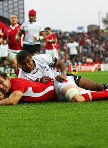 Wales v Fiji - Sam Warburton try