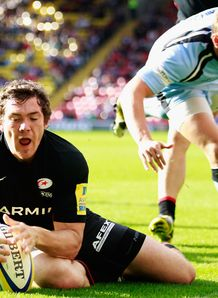saracens alex goode try 2011