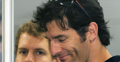 To the fore: Webber can replace Vettel on top of the podium, says Tony