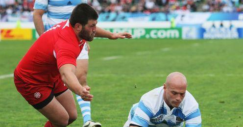Argentina v Georgia - Felipe Contepomi try