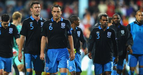 England: lost a two-goal lead for the first time since 2004
