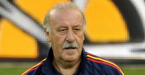 Del Bosque came under fire for opting against a striker
