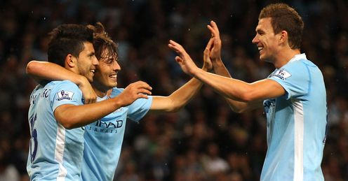 Twin threat: Dzeko and Aguero are City's Champions League strikeforce, says Ray