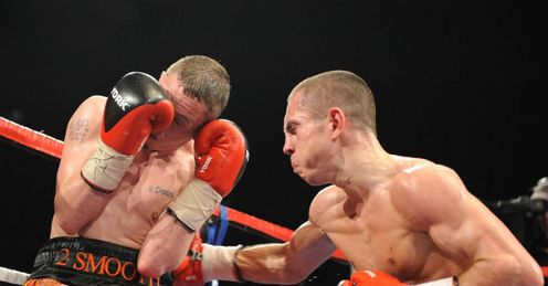 Tough challenge: Quigg (right) toppled Booth, but can he defeat dogged Arthur?