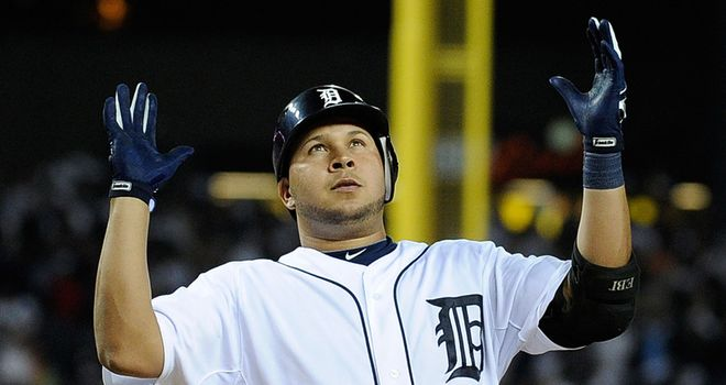 MLB: Tigers on scoreboard