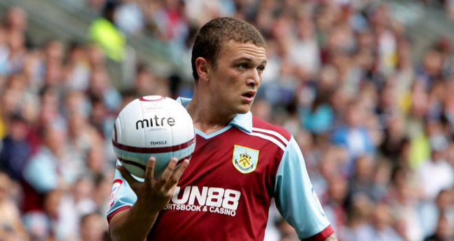 Kieran Trippier in action for Burnley