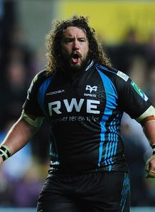 Adam Jones ospreys heineken cup 2011