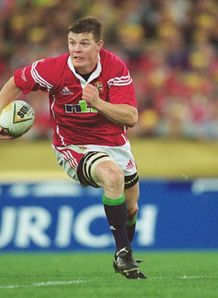 Brian O Driscoll as a 2001 British and Irish Lion
