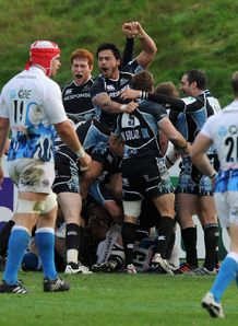 Glasgow Warriors celebrate Heineken Cup win over Bath